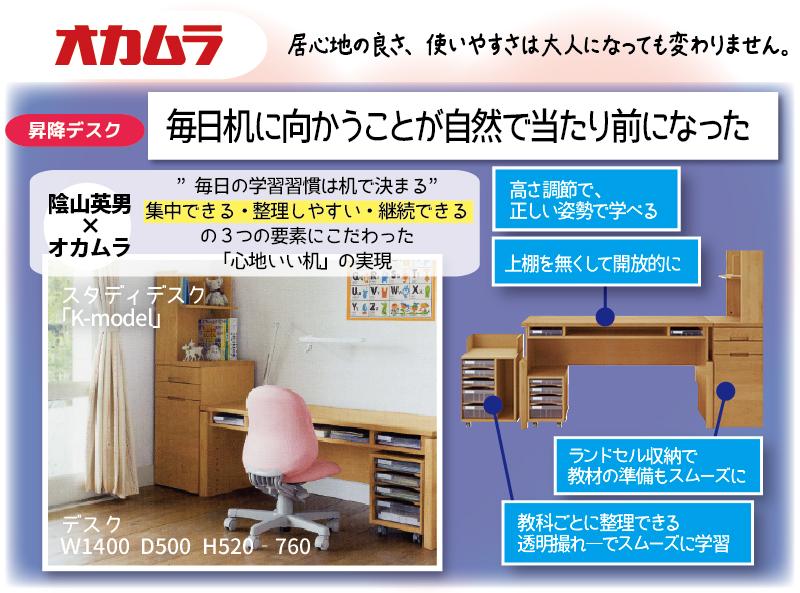 オカムラ 学習デスク Kモデル